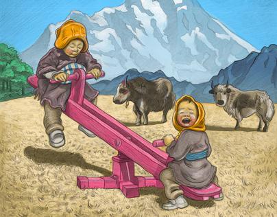 Himalayan Pink Seesaw