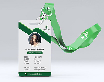ID Card Design | FREE MOCKUP [Download]