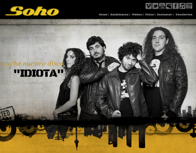 Web Design for music band