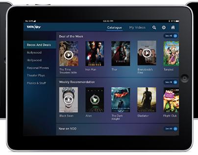 Video On Demand - iPad and iPhone, Tata Sky