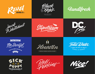 50 Lettering Style Logos