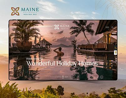 Maine Residence - Web Design Concept