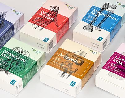 ZADA food supplements // medicine packaging