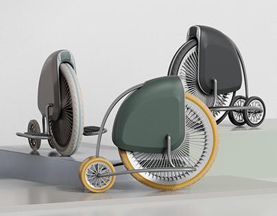 Pennyfarthing remake_Single wheel segway