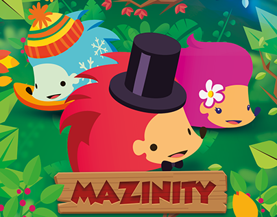 Mazinity: save the hedgehog from the flood!