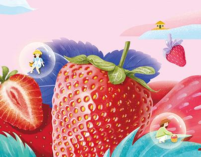 水果插画 商用