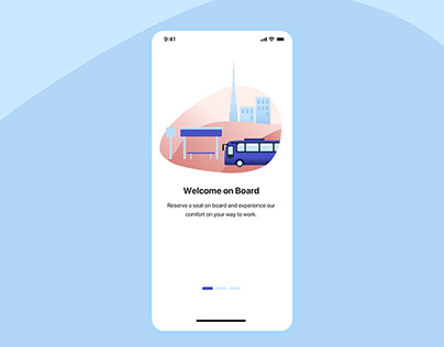 Intro Slide for Commute Transportation App