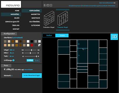 Screendesign Mobilamo Configurator
