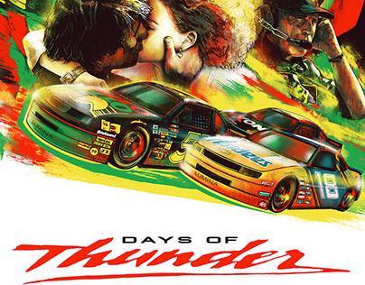 DAYS OF THUNDER screenprint