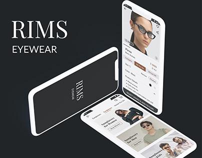 Rims Eyewear App - UI/UX Concept Design