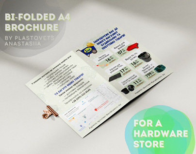 Bi-folded A4 Brochure for a hardware store