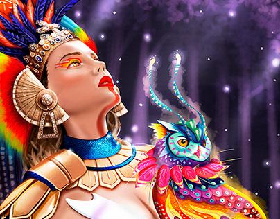 Aztec Princess - Fantasy Portrait