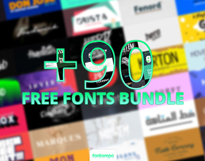90 Free Fonts Bundle