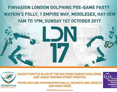 2017 FINvasion London Facebook header, advert and logo.