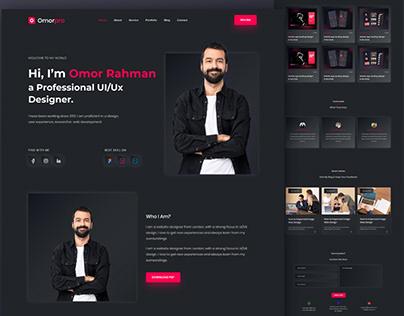 Personal Portfolio Website, UI Design