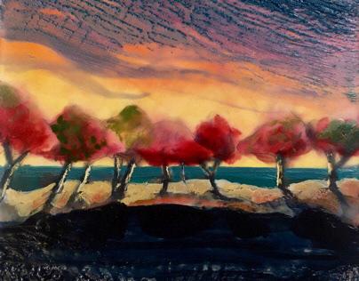 Encaustic Wax Seascapes