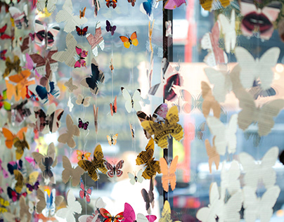 Summer Butterflies Decorations at Hedonism Wines 2018