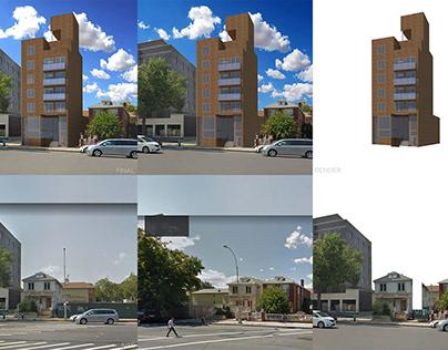 3D Render: Mixed-Use Building, Brooklyn