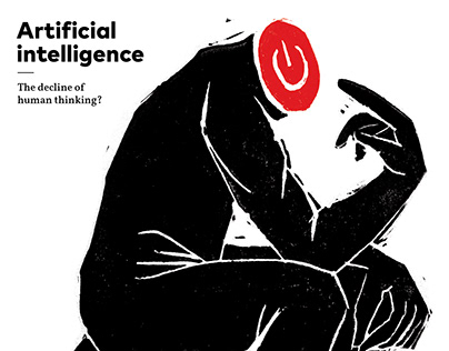 AI Poster - Linocut
