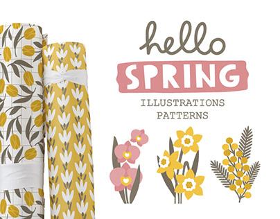 SPRING ❀ illustrations & patterns