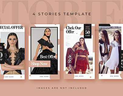 4 Fashion Sale Instagram Stories Template
