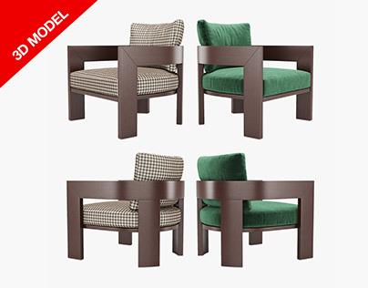 3d modelMinotti Warhol armchair