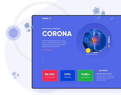 Corona (Covid 19) landing page
