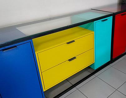 Storage furniture renovation.