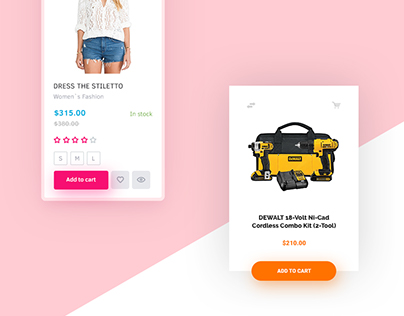 Day 001 — Product Card. Free PSD