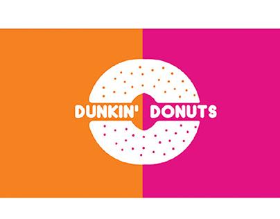 Re-branding  DUNKIN DONUTS logo.