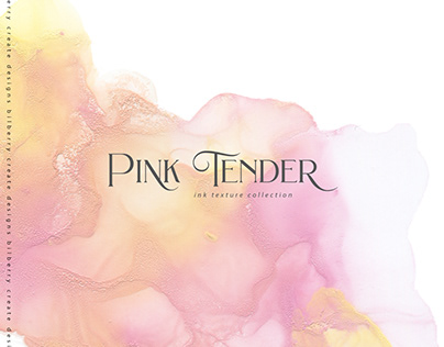 Pink Tender ink texture