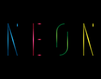 Neon font design