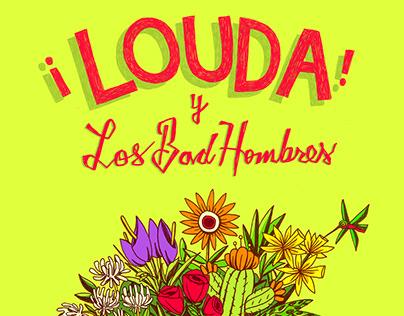 Louda y Los Bad Hombres Cinco De Mayo Gig Poster