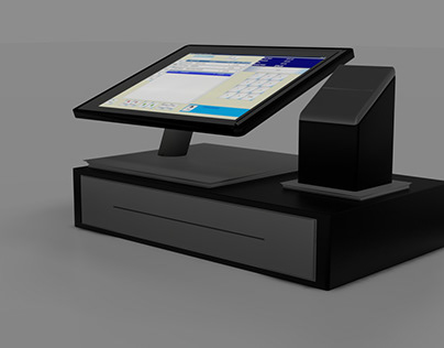 Blender 3d Cash Swipe Machine Modelling