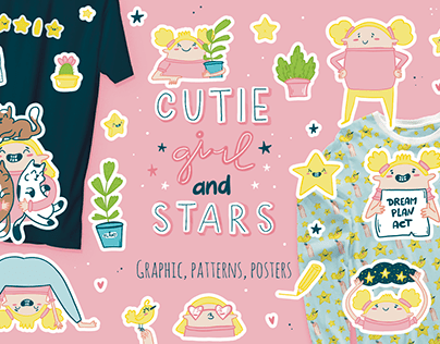 "Collection ""Cutie girl and stars"""