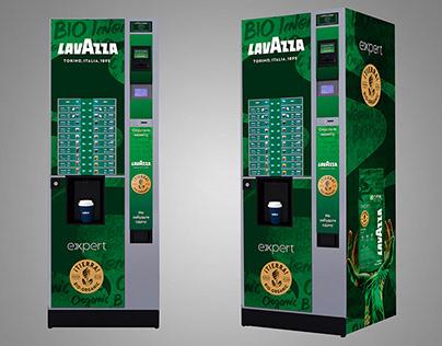 Lavazza coffee vending machines sticker for bio grain