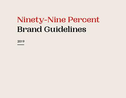 Ninety-Nine Percent   Brand Identity