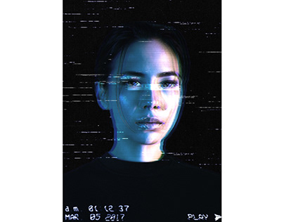 Glitch Effect: Free Photoshop Template