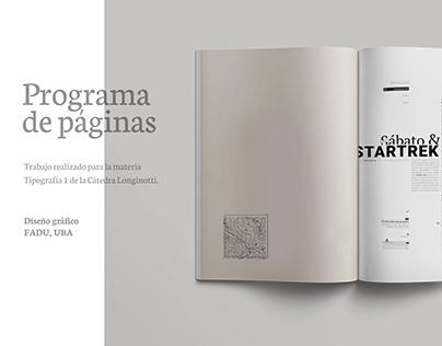 Editorial - programa de páginas