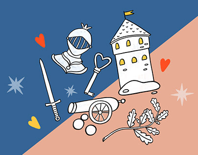 Visual style for Tallinn City Museum's family day