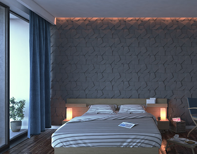 3D Bedroom Render