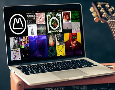 Landing page for MASTERSKAYA Record Label