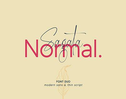 FREE | Sagata Normal - Font Duo