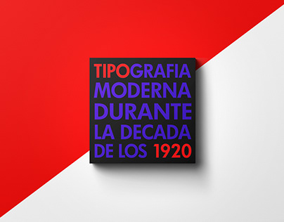 Modern Typography of 1920s