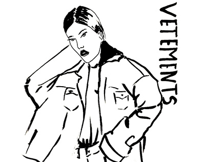 Fashion illustration for VETEMENTS