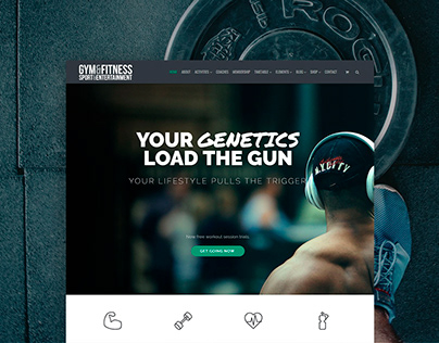 Gym WordPress Theme Responsive View
