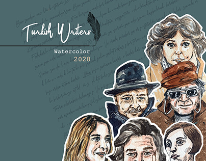 Turkish writers | watercolor illustration