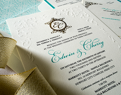 Wedding Invitation: Cherry & Edwin