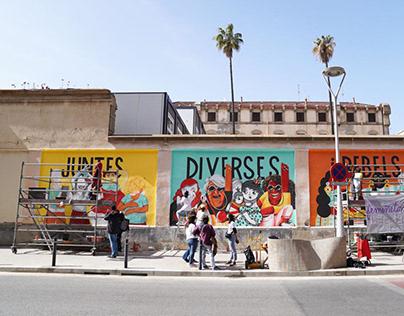 Mural Feminista La Model, Barcelona 2021