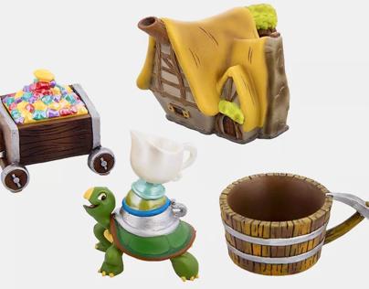 Walt Disney collectible mini tea sets